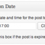Select a Date and Time for the Post to Expire